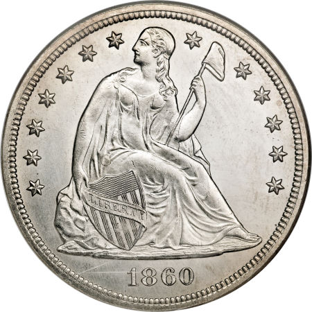 1860 Seated Liberty Dollar Coin Value Facts