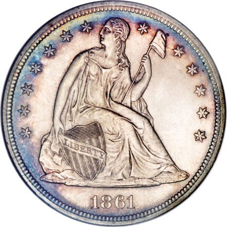 1861 Seated Liberty Dollar
