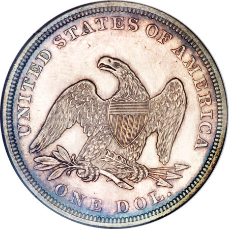 1861 Seated Liberty Dollar Coin Value Facts