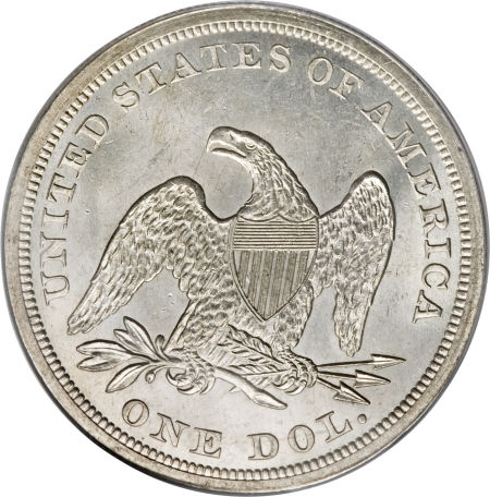 1864 Seated Liberty Dollar Coin Value Facts