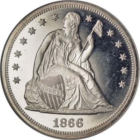 1866 Seated Liberty Dollar Proof Only