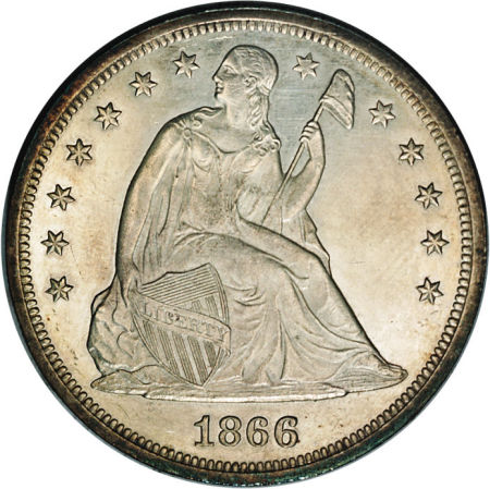 1866 Seated Liberty Dollar Coin Value Facts
