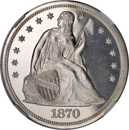 1870 Seated Liberty Dollar Coin Value Facts