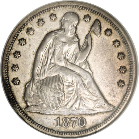1870 S Seated Liberty Dollar Coin Value Facts