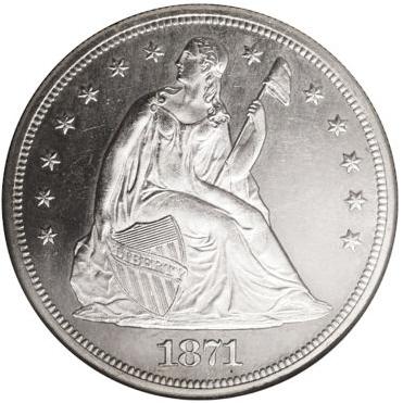 1871-CC Seated Liberty Dollar