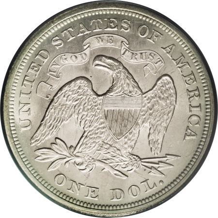 1871 Seated Liberty Dollar Coin Values Facts