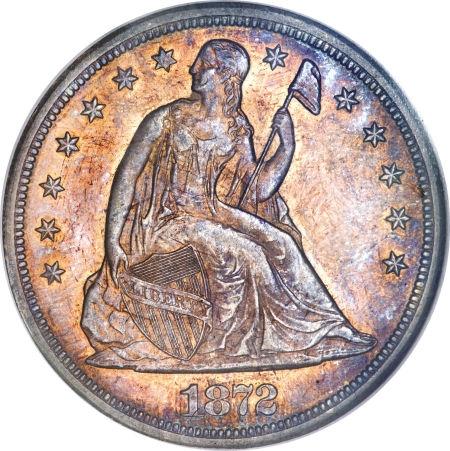 1872-S Seated Liberty Dollar