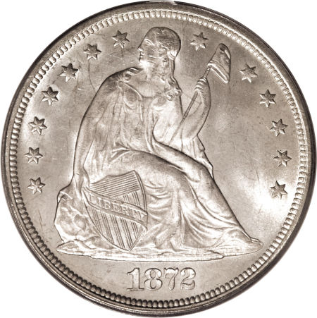1872 Seated Liberty Dollar Coin Values Facts