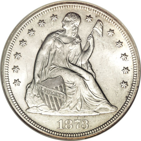 1873 S Seated Liberty Dollar Facts Value