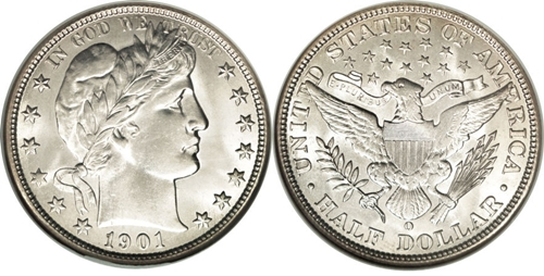 1901 half dollar value