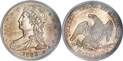 Most valuable Capped bust Half Dollar Reeded edge values