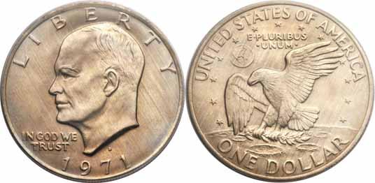 1971-D Eisenhower Dollar Image Values