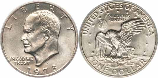 1973-D Eisenhower Dollar Image Values