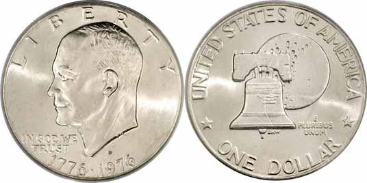 1776 1976 D Type Ii Eisenhower Dollar Values Facts