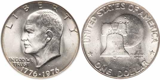 1776 1976 D Type I Eisenhower Dollar Values Facts