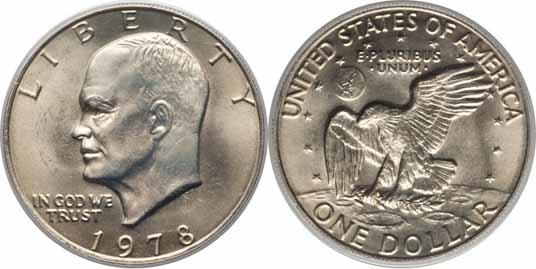 1978 Eisenhower Dollar Values Facts