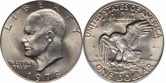 1978-D Eisnehower Dollar Image Values