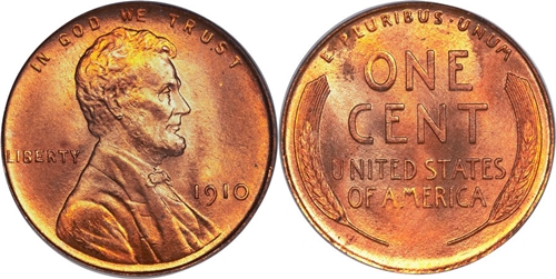 1910 Lincoln Cent Value Image