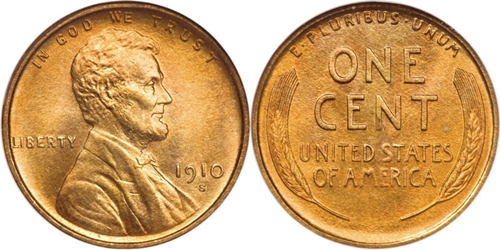 1910-S Lincoln Cent Value Image