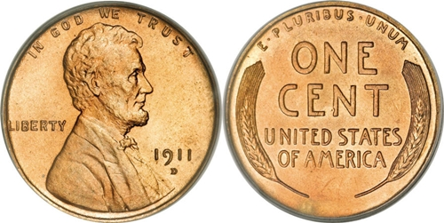 1911-D Lincoln Cent Value Image