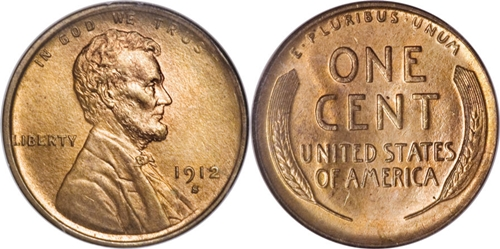 1912-S Lincoln Wheat Cent Coin Values