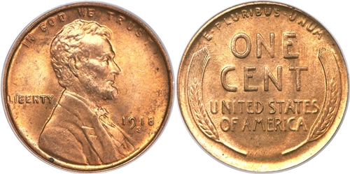 1918-S  LINCOLN WHEAT CENT #10