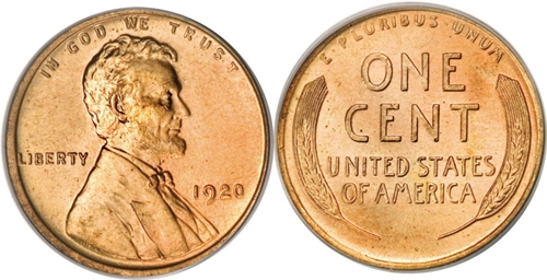 1920 Lincoln Wheat Cent Coin Values