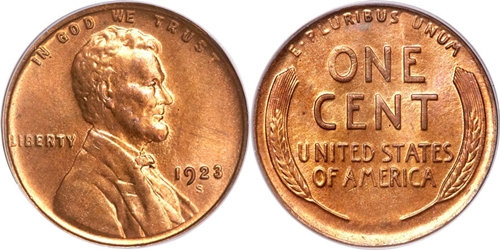 1923-S Lincoln Wheat Cent Coin Values