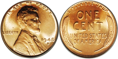 1948-D Lincoln Wheat Cent Coin Value, Facts