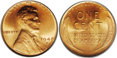 1948-S Lincoln Wheat Cent Coin Value, Facts