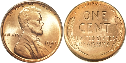 1949-D Lincoln Wheat Cent Coin Value, Facts