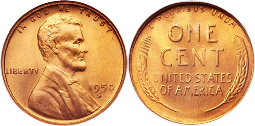 1950-S Lincoln Wheat Cent Coin Value, Facts
