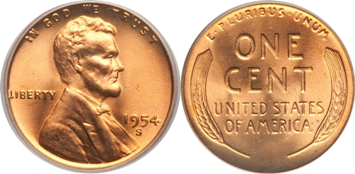 1954-S Lincoln Wheat Cent Coin Value, Facts