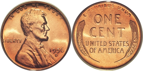 1956 D Lincoln Wheat Cent Coin Value Facts