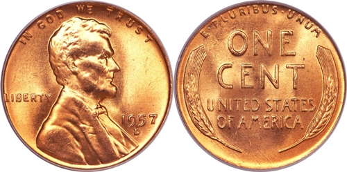 1957-D Lincoln Wheat Cent Coin Value, Facts