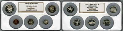 Most valuable 1992 to date Silver Proof Set values