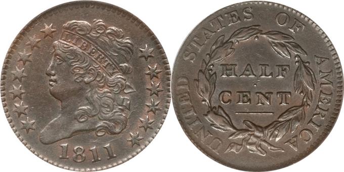 1811 Classic Head Half Cent value