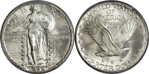 1928-S Standing Liberty Silver Quarter EF Uncertified