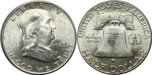1948-D Franklin Half Dollar Value