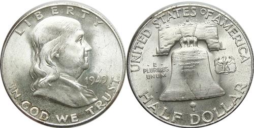 1949-S Franklin Half Dollar Value