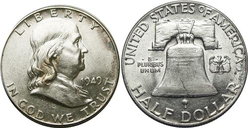 1949 Franklin Half Dollar Value