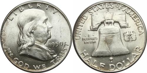1950-D Franklin Half Dollar Value