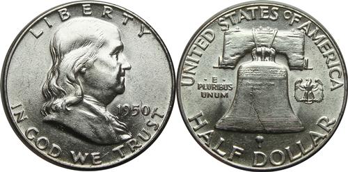 1950 Franklin Half Dollar Value