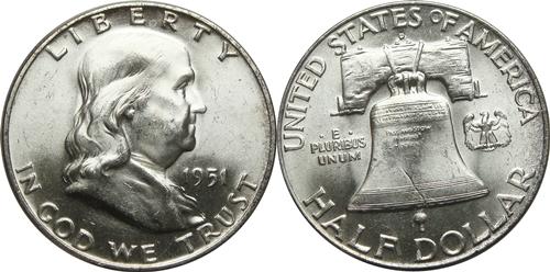 1951-D Franklin Half Dollar Value