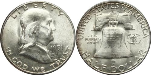 1951-S Franklin Half Dollar Value