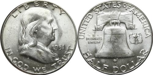 1951 Franklin Half Dollar Value