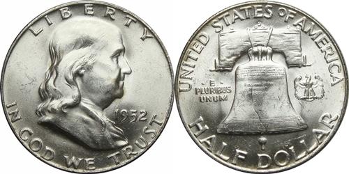 1952-D Franklin Half Dollar Value