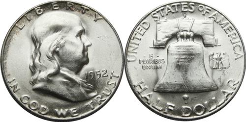 1952-S Franklin Half Dollar Value