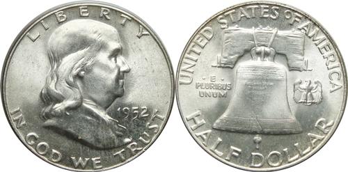 1952 Franklin Half Dollar Value