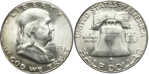 1953-S Franklin Half Dollar Value